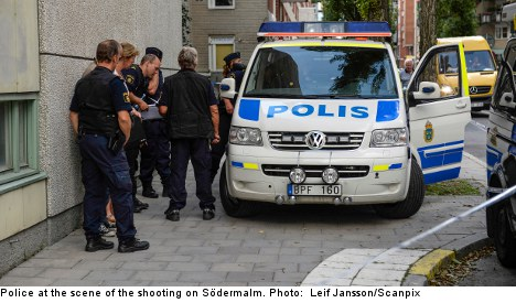 Stockholm man dies from shot to the face