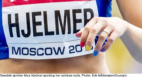 Sweden clips rainbow nails for Russia Olympics