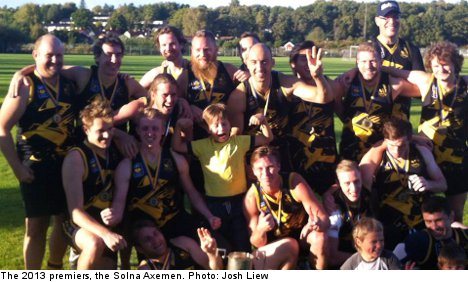 How Australian Rules Football tackled Sweden