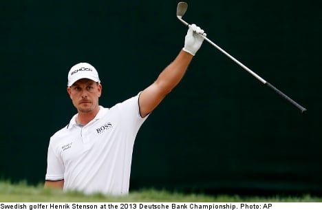 Win puts Swede Stenson ahead of Tiger Woods