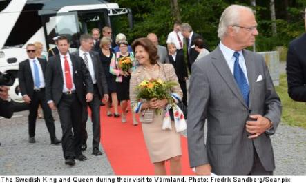 Sweden's King Karl XVI Gustaf and Queen Silvia