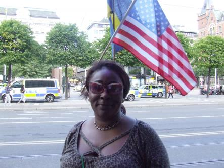 """Claire<br>""""I saw President Clinton in America once, it would be nice to see President Obama in Stockholm too,"""" says Claire.Photo: The Local"""