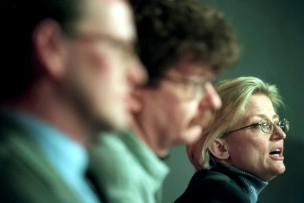 Lindh at a Social Democrat Party meeting in early 2000.Photo: Janerick Henriksson/Scanpix