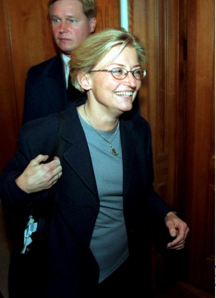 Lindh at the opening of Parliament in Stockholm, 1998.Photo: Ulf Palm/Scanpix