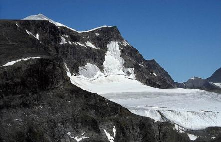 Kebnekaise in northern Sweden is the highest mountain in Sweden. The glacier which covers the southern peak is shrinking and therefore the summit is not as high as earlier. The top is traditionally said to be 2,111 metres high.Photo: Wikipedia