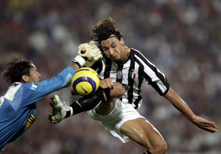 Zlatan playing for Italian club Juventus. He would play here for two years, winning the Guldbollen, the prize awarded to the best Swedish footballer of the year, in his first season.Photo: AP
