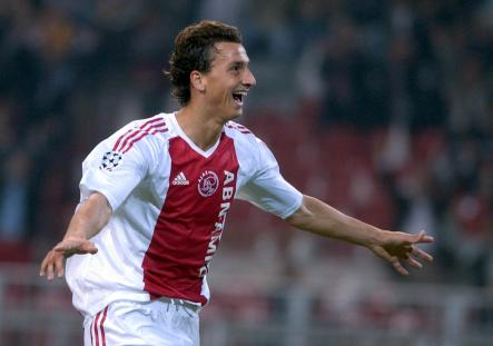 """Upon Zlatan's move to Ajax Amsterdam, his international profile began to rise, highlighted by a brilliant goal against NAC which was eventually voted """"goal of the year"""" by Eurosport viewers.Photo: Dusan Vranic/Scanpix"""