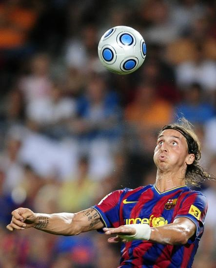 Zlatan moved to footballing powerhouse Barcelona in 2009. He had a successful first season but would leave the club the following year after his relationship with Barcelona Manager, Pep Guardiola deteriorated.Photo: Manu Fernandez/Scanpix