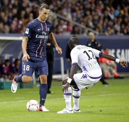 """Zlatan moved to Paris Saint-German in 2012, for a transfer fee that made him the most expensive footballer at the time. At the press conference after his signing, he stated """"I am here to win and nothing else."""" And win he did. Ibrahimovic led PSG to their third league title in 2012, their first since 1994.Photo: Michel Euler/Scanpix"""