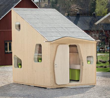 Twenty-two units will be produced, and 22 lucky students will have the chance to live like hobbits in Lund.Photo: Bertil Hertzberg/Tengbom