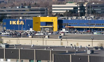 Montreal Ikea<br>Montreal has the biggest Ikea in North America. Opened in 1986, renovations during 2012-2013 nearly doubled the store size to 43,636 square metres. Talk about upgrading.Photo: Ville Oksanen/Flickr.com