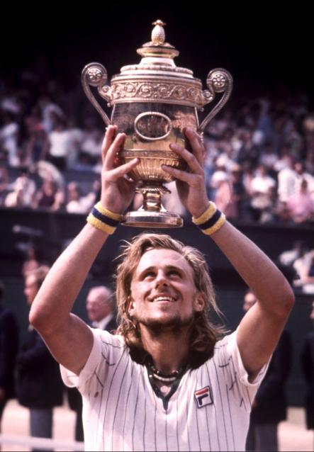 Borg in 1976, after winning Wimbledon without losing a set, defeating Ilie Năstase in the final.Photo: Scanpix