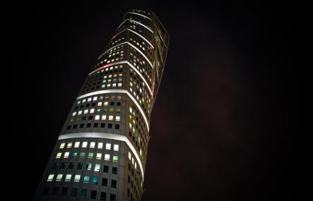 The famous Turning Torso by night.Photo: Anders Printz/Flickr