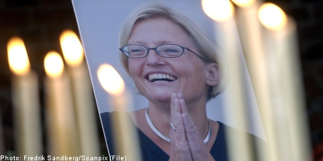 Sweden mourns death of Anna Lindh ten years on