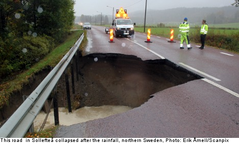 Sweden's north ravaged by torrential downpour