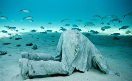 Does this picture sum up humanities ignorance to the changing world?Photo: Jason deCaires Taylor