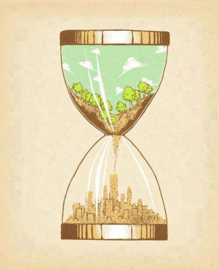 How much of nature is left to build our cities, or more importantly, how much longer does nature have?Photo: Unknown