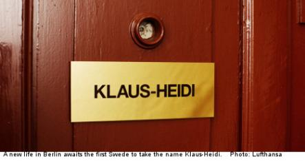 """<font size=""""5"""">Who is Klaus-Heidi?</font><br>One lucky Swede will get the chance to start a new life in Berlin, but they have to legally change their name first to Klaus-Heidi. <br> <a href=""""http://www.thelocal.se/50808/20131015/"""" target=""""_blank""""> Find out why.</a>"""