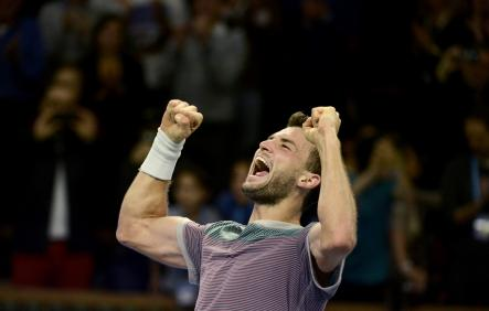 """""""It is a dream come true,"""" said Dimitrov, who has trained in Sweden.Photo: Pontus Lundahl/TT"""