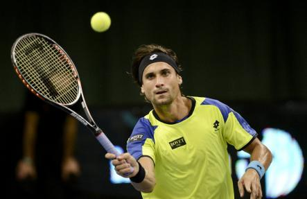 Top-seed player David Ferrer of Spain lost in the singles tournament final to seventh-seed Dimitrov.Photo: Jonathan Nackstrand/Scanpix