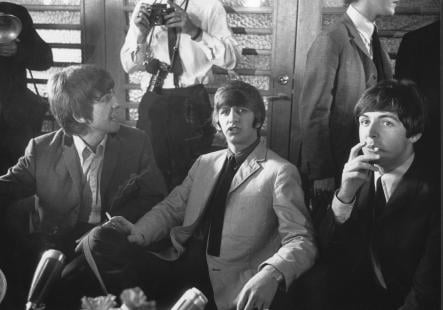 The Starr of the Show<br>Ringo talks to reporters in Stockholm in 1964Photo: Gunnar Westerling/TT
