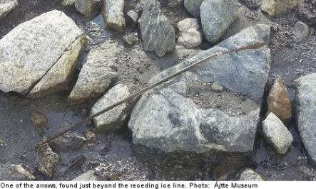 """<font size=""""5"""">Arrows frozen for 1,000 years</font><br>Perfectly preserved arrows that were frozen in ice for 1,000 years have been found in the mountains of northern Sweden.<br> <a href=""""http://www.thelocal.se/50982/20131024/"""" target=""""_blank""""> See the ancient arrows.</a>"""