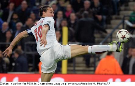 """<font size=""""5"""">Zlatan dazzles with perfect game</font><br>A sensational performance by Zlatan Ibrahimovic helped Paris Saint-Germain continue their perfect start in Champions League Group C with a 5-0 win at Anderlecht on Wednesday. <br> <a href=""""http://www.thelocal.se/50970/20131024/"""" target=""""_blank""""> Click to read about the incredible Zlatan.</a>"""