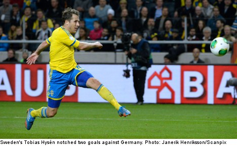 Goals galore as Sweden falls to Germany