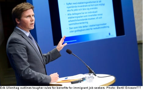 Sweden to get tough on immigrant benefits
