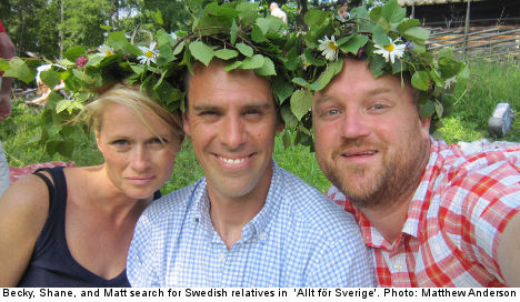 Americans dig for family roots on Swedish TV