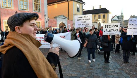 Activists protest foster home teen rape acquittal