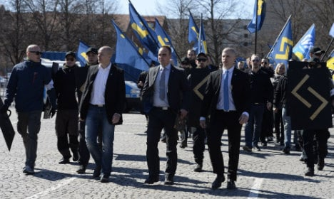 Swedish media targeted in neo-Nazi protest