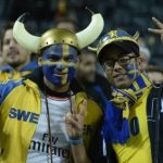 It all started in high spirits for the Swedish fans, needing just a two-goal win against the Portuguese.Photo: TT