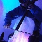 A double bass player takes to the icePhoto: Ice Music