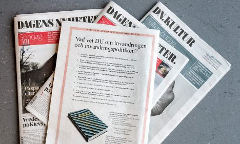 Swedes aim to 'correct' paper's 'xenophobic' ad