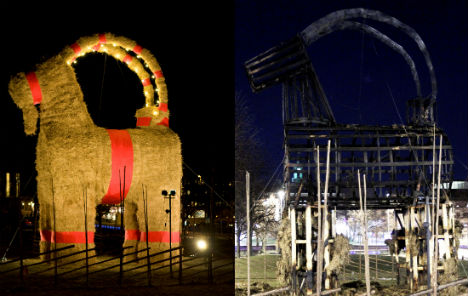 Sweden's Christmas goat torched yet again