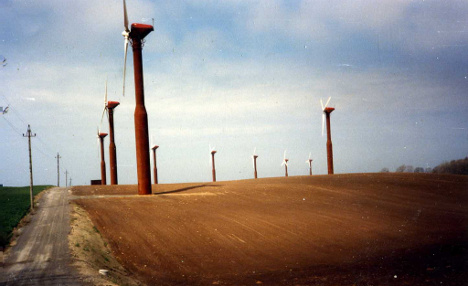 Autumn storms buffeted wind power generation