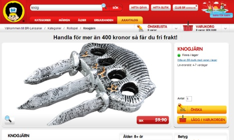 Swedish parents fuming over toy knuckledusters