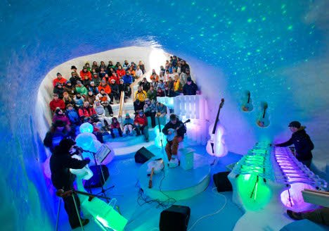 Ice instruments at the ice igloo in Luleå