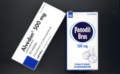 Paracetamol poisoning on the rise in Sweden