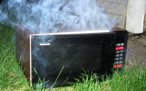 Microwave 'experiment' lands band in hot water