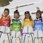 Sweden win first gold after dramatic ski race