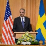 Holder hails Sweden as human rights 'champion'