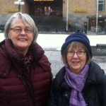 """Inger and Gunilla. """"Friendliness all depends on how you treat others. Be friendly and they will often do the same in return,"""" says Inger. Gunilla agrees. When pressed for a recent act of kindness, Inger explains that she didn't get angry when a young woman left her bag on a train seat. """"I said, it doesn't matter, and when she left, I wished her a pleasant day."""""""