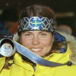 Pernilla Wiberg put Swedish women's alpine skiing on the map, picking up Olympic medals in 1992 (gold), 1994 (gold), and 1998 (silver). Add to that her four World Championships and one World Cup overall title, Wiberg's dominance paved the way for her successor...Photo: Pressens Bild/Bildbyrån