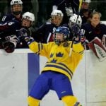 Maria Rooth is one of many reasons why the Swedish women's ice hockey team is a force to be reckoned with. After winning bronze in Salt Lake City in 2002, they picked up a silver in Turin in 2006. The second place finish came after Rooth almost single-handedly helped Sweden upset the United States, scoring two goals in regulation as well as the game-winning shootout goal.Photo: AP