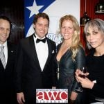 American Club of Sweden president Sam Cooley, Greg Poehler, with American Women's Club board member Christal Aycock Jemdahl and president Carmen ErikssonPhoto: Braceiller Productions