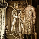 A cut-out of King Joffrey next to a coat he wears in Game of ThronesPhoto: Livrustkammaren