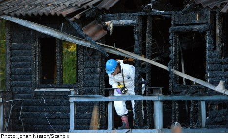 Dad jailed for life after killing kids in cabin fire
