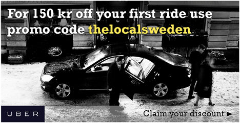 Special offer: 150 kr off your first Uber ride